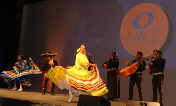 Colorful dancers and a Mariachi band at the opening ceremonies.
